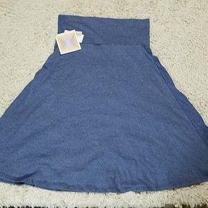 Lularoe Azure Skirt Blue Small